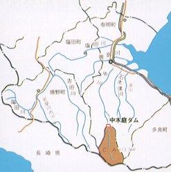 중고바 댐 하천도