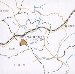 사냥립·일 노 봉우리 댐 하천도