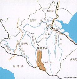 요코타케 댐 하천도