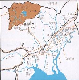 嘉瀨河水壩河川圖