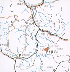 Figure of Motobu Dam river