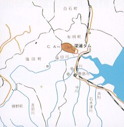Figure of Fukaura Dam river