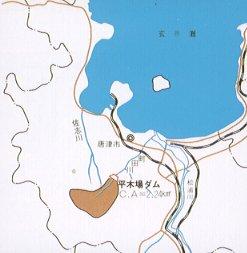 平木场水坝河川图