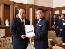 福冈县柳川市的金子市长的来访