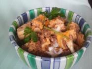 Bowl image of ground pork and tofu