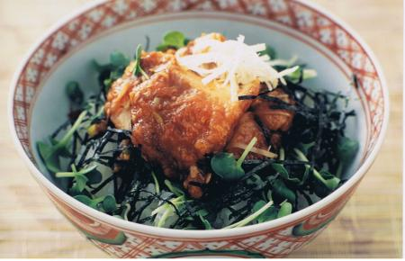 Deep-fried chicken bowl