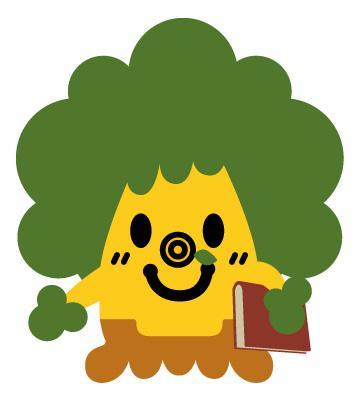 Prefectural book mascot kusu kusu