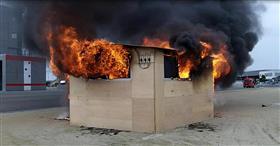 模拟房屋燃烧实验
