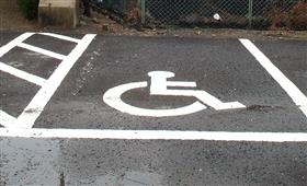 Parking lot for person with a physical disability