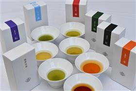 销售的茶的集合画
