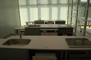 Cooking training room photograph