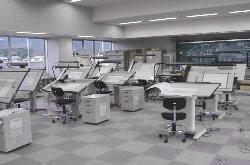 建築設計科製圖室